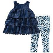 Calvin Klein Baby Girl's Tunic Legging Set Pants, Navy, 12M