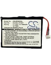 CS-EC003XL Akku 750mAh Kompatibel mit [Apple] iPOD Mini 4GB, iPOD Mini 6GB, Mini 4GB M9160LL/A, Mini 4GB M9434LL/A, Mini 4GB M9435LL/A, Mini 4GB M9436LL/A, Mini 4GB M9437LL/A, Mini 4GB M9800/A, Mini