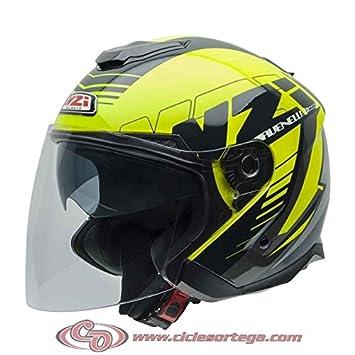 NZI Avenew2 - Casco de moto abierto (talla XL, color amarillo brillante, negro