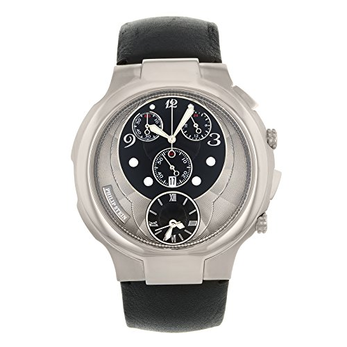 Philip Stein Women's 9-CRB3-CB Quartz Analog Dual Time Chronograph Watch