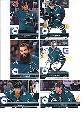 timeless design 80ce7 7553d Amazon.com: 2017-18 Upper Deck Series 2 San Jose Sharks Team ...