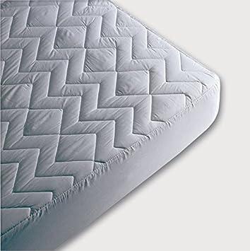 Nordiko - Protector de colchon no alcolchado tencell cama 105, tamaño 105/190 / 200 cm, color Blanco: Amazon.es: Hogar