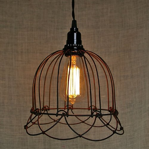 (Wire Bell Pendant Lamp Rustic)