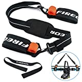 Ski Carrier Strap, Snowboard, Pole and Boot Carry Sling Strap Kit Adjustable Cushioned Shoulder Back Band for Family Men Women & Kids, Downhill Skiing Equipment Accessories Free Your Hand!