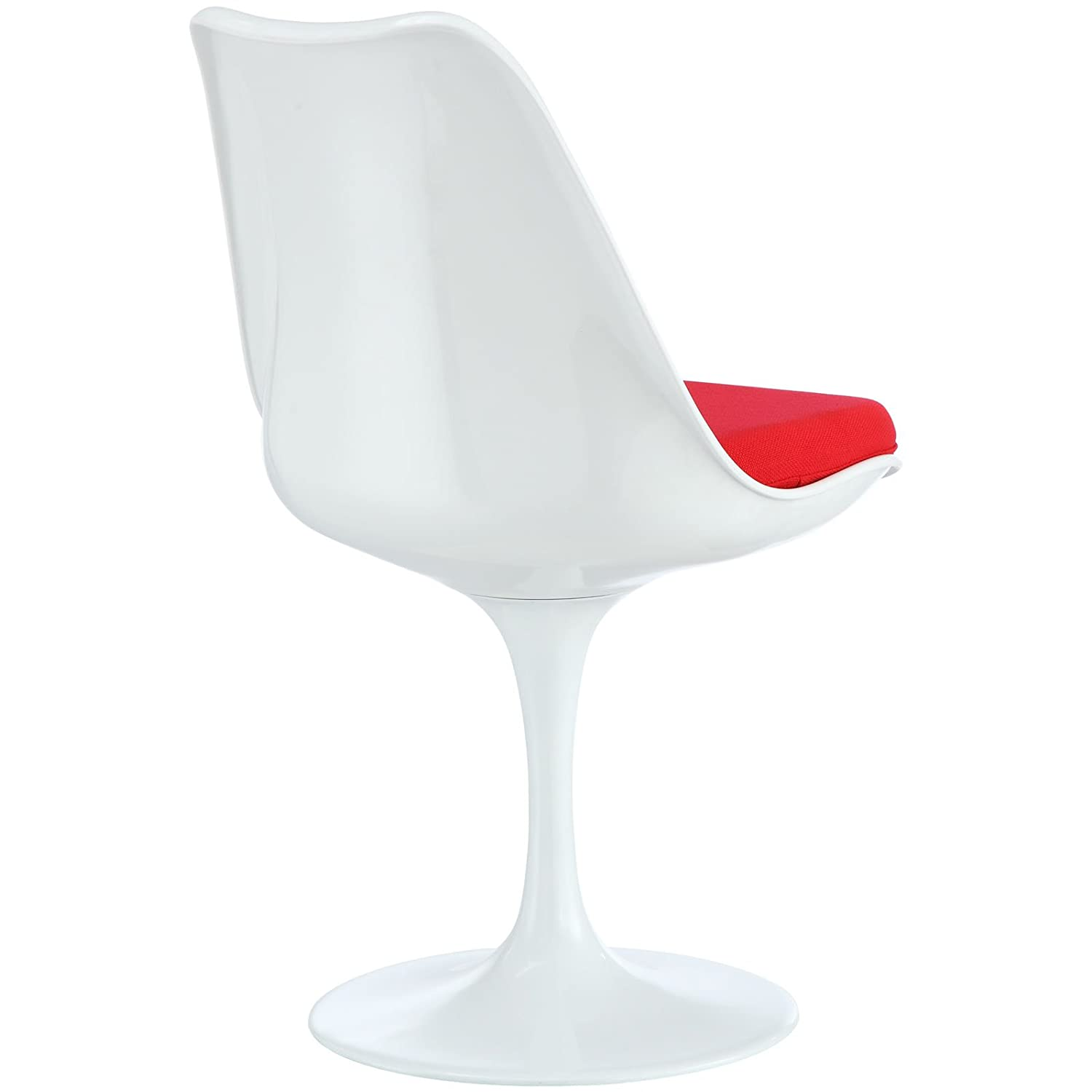 Modway Lippa Dining Fabric Side Chair in Red
