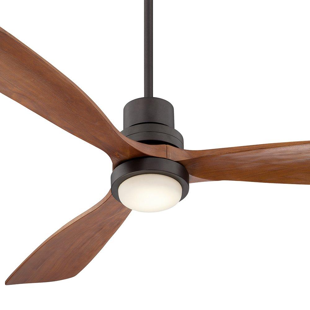 52'' Casa Delta-Wing Bronze Outdoor LED Ceiling Fan