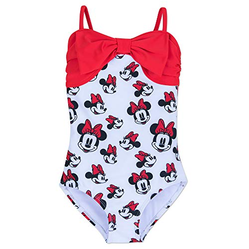 Disney Minnie Mouse Swimsuit for Girls SPF50 Size 5-6 Red