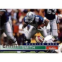 Emmitt Smith football card (Dallas Cowboys Hall of Fame) 1995 Skybox Impact #41