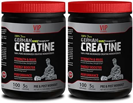 Strength Supplements - Pure German CREATINE Powder - MICRONIZED CREATINE MONOHYDRATE CREAPURE 500G 100 Servings - Muscle Building Supplements for Men