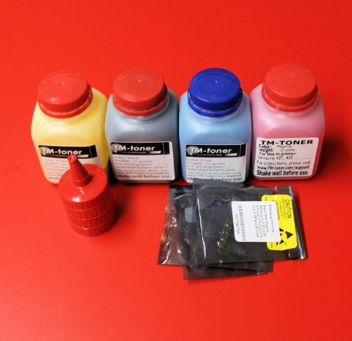 TM-toner © 4 Toner refill with Chips for Samsung CLP-310 CLP-315 CLX-3170 CLX-3175 CLX-3175FW CLP-315W