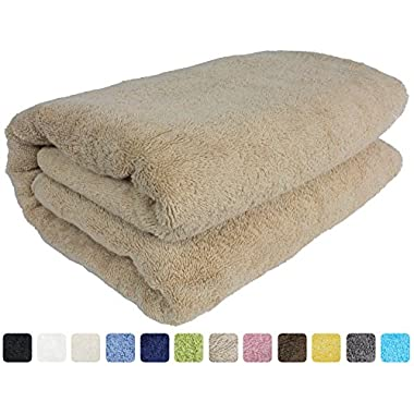 40 x80  Turkish Spa Large Bath Sheet, Luxury, Eco-friendly 650 Grams (Taupe, 40  x 80 )