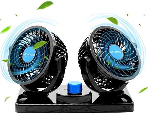 MENQANG Ventilador de Coche 360 ° Giratorio Cabezas Dobles ...