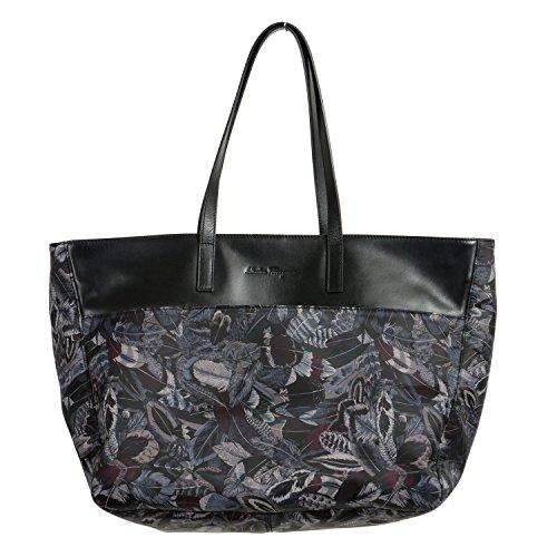 (Salvatore Ferragamo Multi-Color Calf Leather Trim Women's Handbag Shoulder Bag)