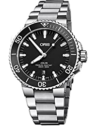 Aquis Date Black Dial 43.5mm Stainless Steel Mens Watch 73377304154MB. Oris