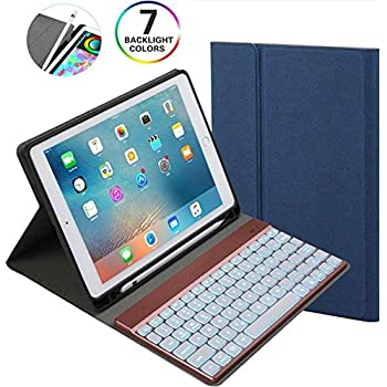 Huawei MediaPad M5 10.8 Bluetooth Keyboard Case with Pencil Holder Detachable Aluminum LED Backlit Magnetic Kickstand Cover for Huawei MediaPad M5/M5 Pro ...