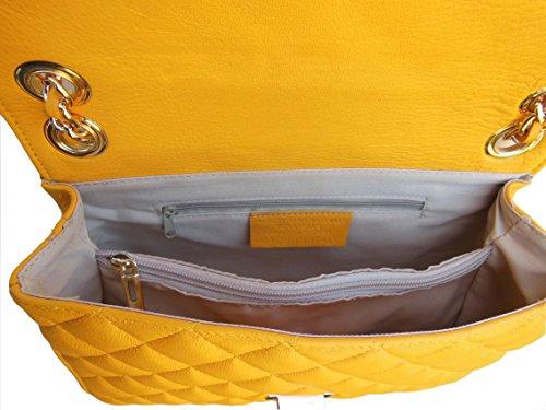 Bolso Napa Piel QUILTED Amarillo collezioni amarillo canetti B5Ozwqt
