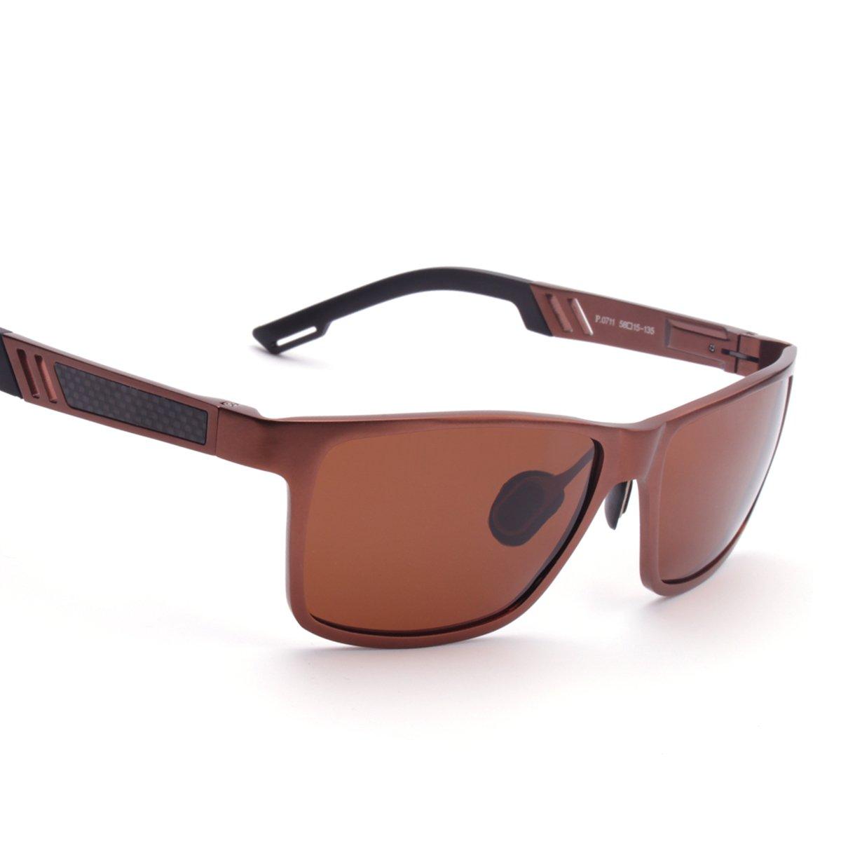 ELITERA in alluminio magnesio uomini polarizzati degli occhiali da sole per gli sport di guida di viaggio E6560