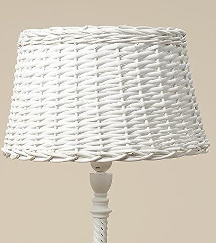 Lámpara Pantalla Sylt blanco de ratán pantalla de mimbre en ...
