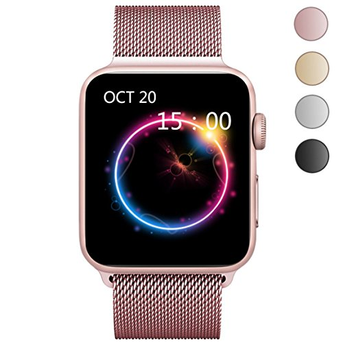 OROBAY Apple Watch Band 42mm, Stainless Steel Mesh Loop with Adjustable Magnetic Closure Replacement iWatch Band for Apple Watch Series 3 Series 2 Series 1