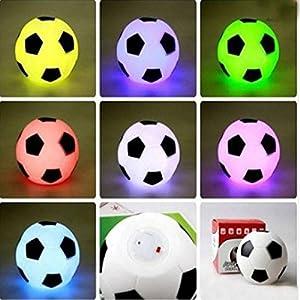 SOLMORE LED Colorful Football Fußball Lampe Nachtlicht Schreibtischlampe...