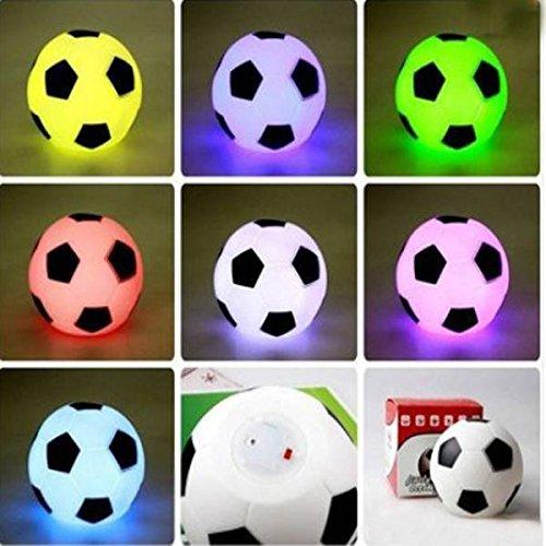 SOLMORE LED Colorful Football Fußball Lampe Nachtlicht Schreibtischlampe Schreibtischleuchte Büroleuchte Leselampe Tischlampe Nachttischlampen Buchlampe Laptoplampe Tischleuchte Stimmungslicht
