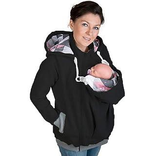 Mujer Invierno Chaqueta del Portador De Bebé Capucha Maternidad Canguro  Algodón Sudadera Abrigo para… 4a7c788b64d9