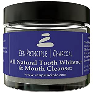Natural Charcoal Teeth Whitening Powder. From USA Grown Hardwood Trees. Organic Mint Flavor, Bentonite and Kaolin Clay, Alum-Free Baking Soda. Compare to Tooth Whitener Toothpaste.