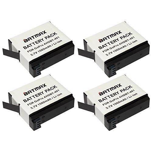 Batmax 4-Pack High Capacity Go pro Camera HERO 4 Replacement