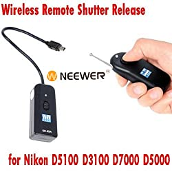 Neewer Digital Dslr Camera 16ch Wireless Shutter Release Remote Control For Nikon D5100, D3100, D7000, D5000, D90