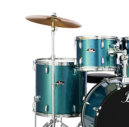 Pearl Roadshow 5-piece Complete Drum Set with Cymbals - 22' Kick - Aqua Blue Glitter