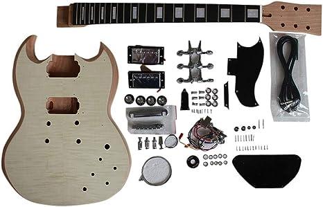 gd590 Hazlo tú mismo Guitarra Eléctrica Kit Set En Caoba Cuerpo ...