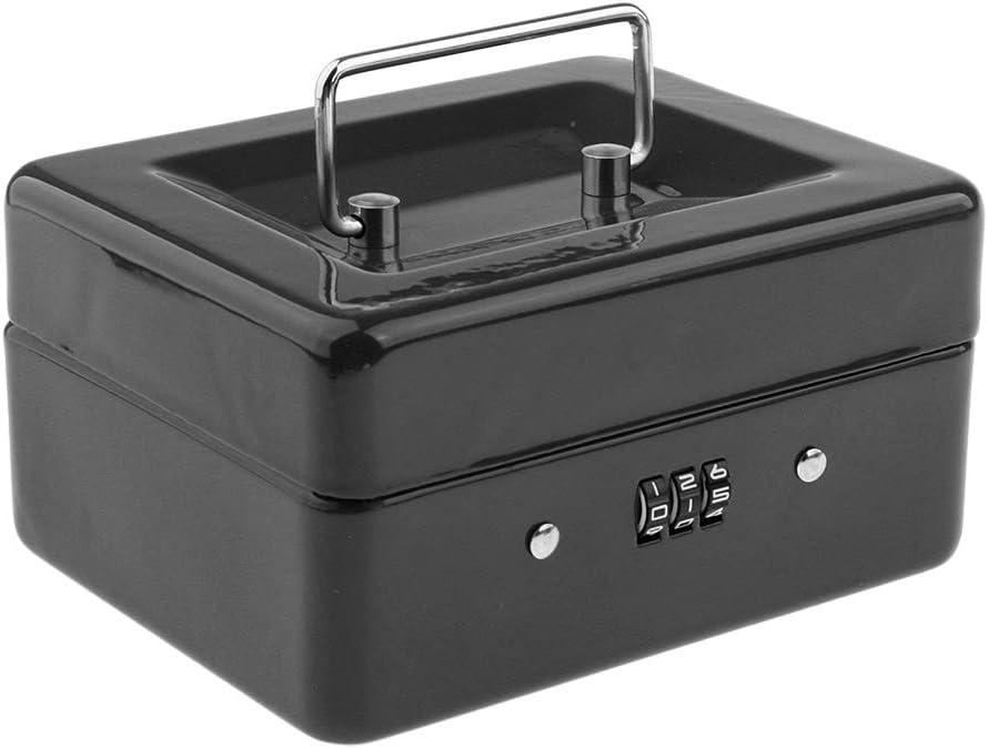 Geld - Blau Homyl Metall Aufbewahrungsbox Geldkassette Geldbox Aufbewahrung Box mit Deckel und Zahlenschloss f/ür Kosmetik M/ünzen usw