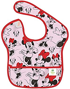 Bumkins Disney Baby Waterproof SuperBib, Minnie Classic (6-24 Months)