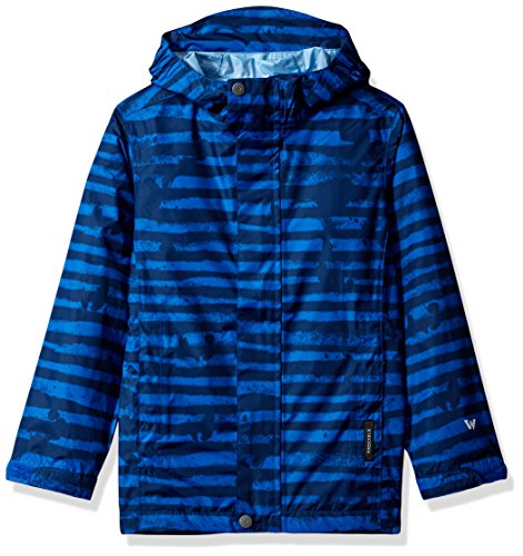 (White Sierra Youth Trabagon Printed Rain Shell, Imperial Blue, Large)