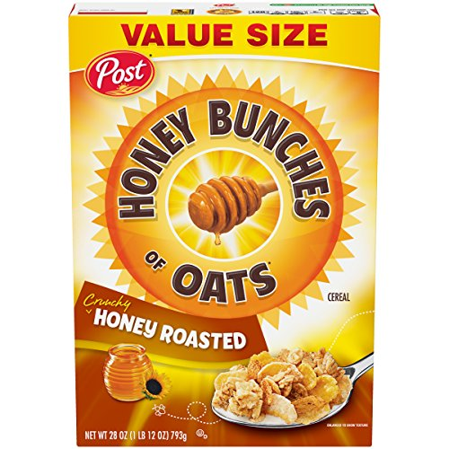 Post Honey Bunches of Oats Crunchy Honey Roasted Cereal, 28 Ounce (Kosher Cereal)