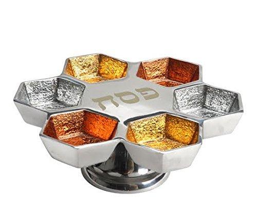 Aluminum Elevated Seder Plate (Orange Mix) Pesach Art COMINHKPR133907