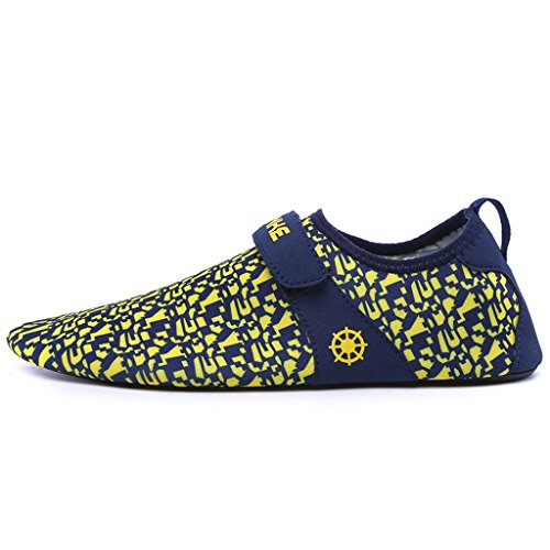 IVAO Women Men Aqua Socks Quick Drying Unisex Barefoot Water Shoes for Beach Swimming Surfing Yoga Yellow AAId1vR
