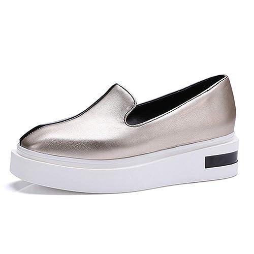 Mocasines De Plataforma para Mujer Zapatos De Punta Plana Cuadrada Slip Ons Color Mezclado Casual CóModo Mocasines De Fondo Grueso: Amazon.es: Zapatos y ...