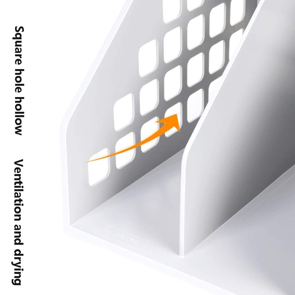 Quad-File Box Office File-Aufbewahrungsbox Desktop-Dateihalter (Blau, Weiß, Weiß, Weiß, Schwarz) (Farbe   Weiß) B07MQPWPH4 | Angemessener Preis  1a661f