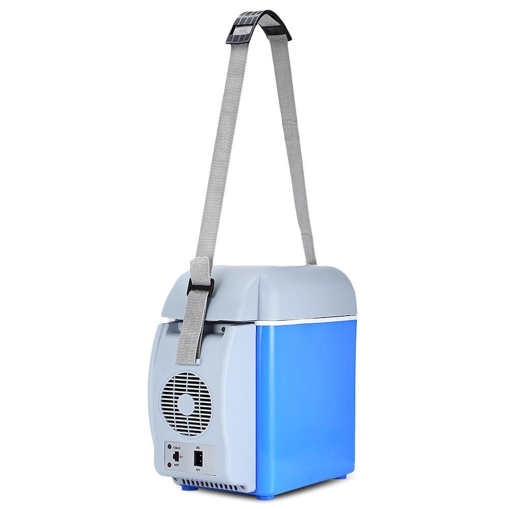 ZhangHongJ,Mini 7.5L Thermoelectric Cooler Tragbarer K/ühlschrankisolator Color:BLAU