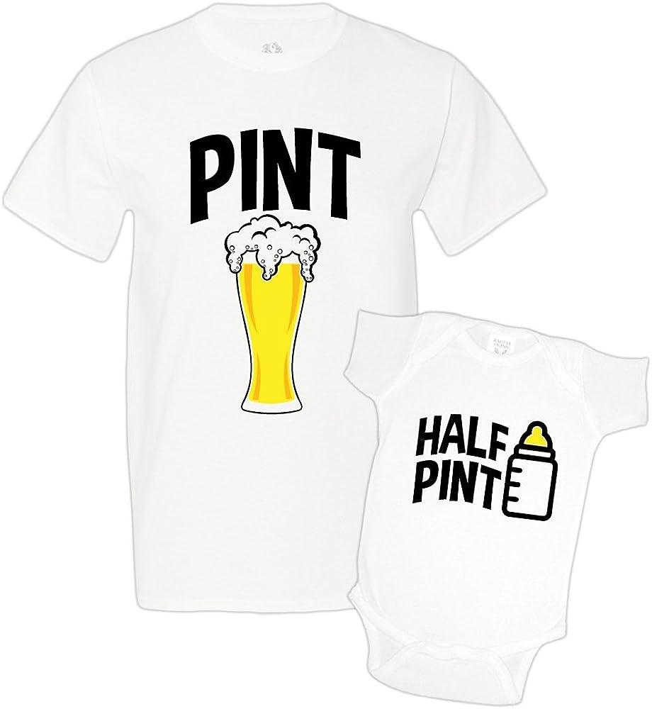 Pinte et demi-pinte père et fils assortis T shirt BABY SHOWER BODY Père Cadeau