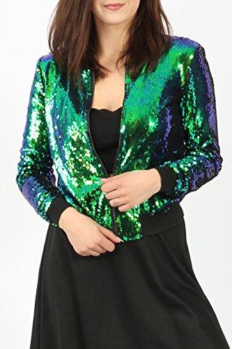 vert Green Blouson Femme Missi Teddy qwpAO61
