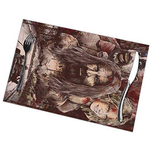 NICOMUNFORDLE Devils Rejects Washable Easy to Clean Table Mat Heat Resistant Polyester Table Mat 12 X 18 6 Piece Set