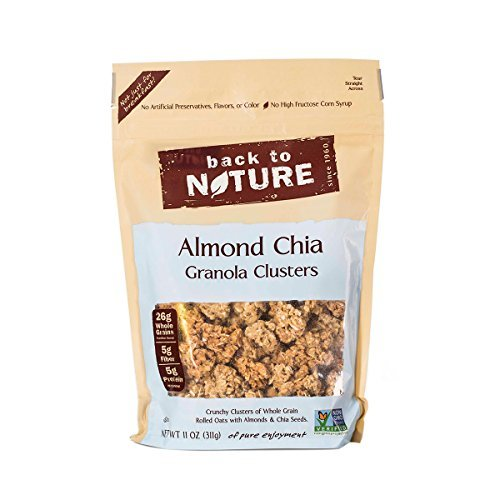 Back To Nature Almond Chia Granola Clusters, 11 Ounce (Pack of 6)