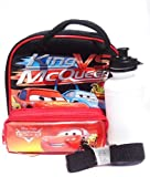 Cars Lunch Bag and Pencil Case Set (Black) -Gift Set for Boys