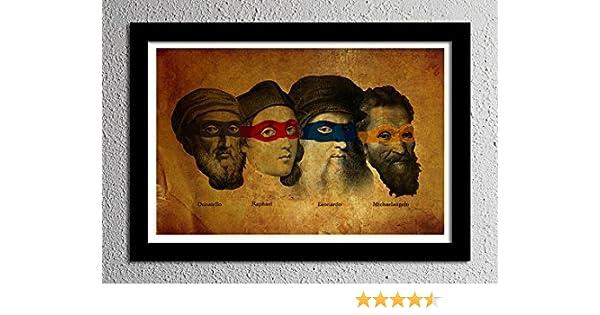 Teenage Mutant Ninja Turtles - Artists - Original Minimalist Art Poster Print