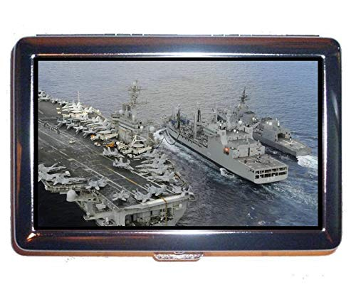 Cigarette Box,Military USS Theodore Roosevelt (CVN 71) Warship Business Credit ID Card Holder (King - Clemenceau Case