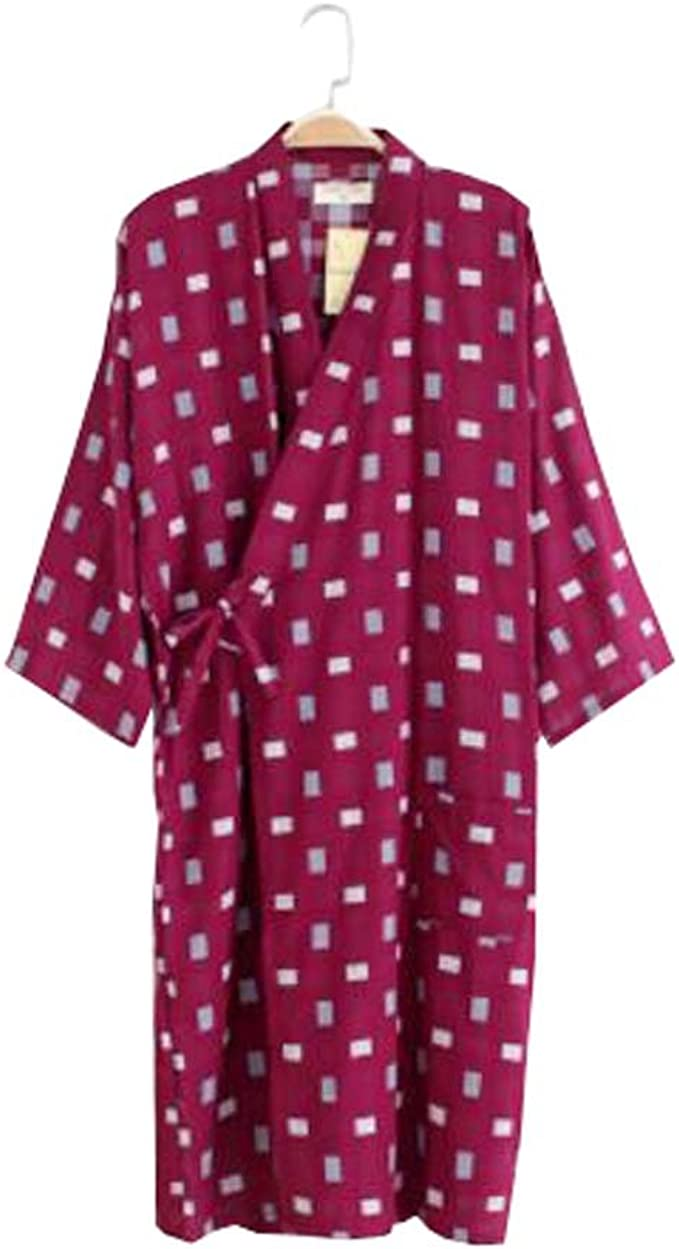 Black Temptation Albornoz/bata de algodón ligero para hombres - Kimono Robe 100% algodón - E: Amazon.es: Ropa y accesorios