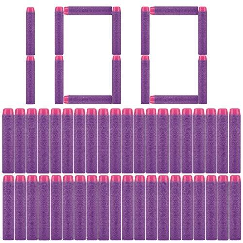 - PeleusTech® Refill Bullets, 100Pcs Dart Refills for Nerf Rebelle Dart Fire Blaster - Purple