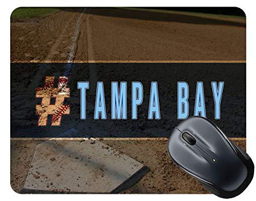 BRGiftShop Hashtag Tampa Bay #TampaBay Baseball Team Square Mouse Pad -